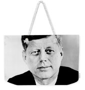 John F. Kennedy Weekender Tote Bag by Benjamin Yeager
