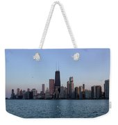 John Hancock Building And Chicago Il Skyline Weekender Tote Bag