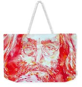 John Lennon With Rose Weekender Tote Bag