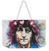 John Lennon..up Close Weekender Tote Bag