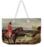 John Levett Hunting In The Park At Wychnor Weekender Tote Bag