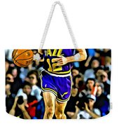 John Stockton Portrait Weekender Tote Bag