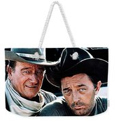 John Wayne And Robert Mitchum El Dorado 1967 Publicity Photo Old Tucson Arizona 1967-2012 Weekender Tote Bag
