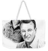 John Wayne Weekender Tote Bag by Peter Piatt
