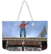 John Wayne Shuttered Cowboy Museum Close-up Tombstone Arizona 2004 Weekender Tote Bag