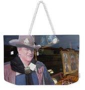 John Wayne Tall In The Saddle Homage 1944 Cardboard Cut-out  Tombstone Arizona 2004 Weekender Tote Bag