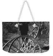Johnny Cash  Meditating Wagon Wheel Graveyard Old Tucson Arizona 1971 Weekender Tote Bag