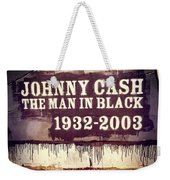 Johnny Cash Memorial Weekender Tote Bag