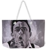 Johnny Cash Portrait Weekender Tote Bag
