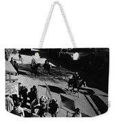 Johnny Cash Riding Horse Filming Promo Main Street Old Tucson Arizona 1971 Weekender Tote Bag
