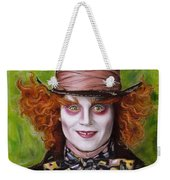 Johnny Depp As Mad Hatter Weekender Tote Bag by Melanie D