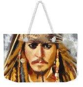 Johnny Depp Jack Sparrow Actor Weekender Tote Bag