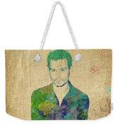 Johnny Depp Watercolor Weekender Tote Bag