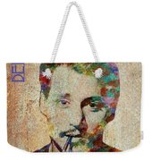 Johnny Depp Watercolor Splashes Weekender Tote Bag