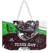 Johnny Manziel 6 Weekender Tote Bag by Jeremiah Colley