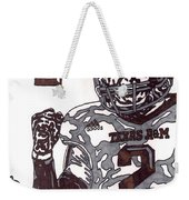 Johnny Manziel 9 Weekender Tote Bag by Jeremiah Colley