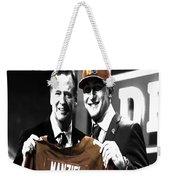 Johnny Manziel  Weekender Tote Bag