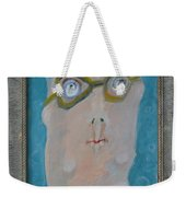 John's Dad Seeing Babies Born - Framed Weekender Tote Bag