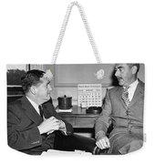 Johnson And Dean Acheson Talk Weekender Tote Bag