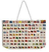 Johnsons New Chart Of National Emblems Weekender Tote Bag by Georgia Fowler