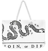 Join Or Die Weekender Tote Bag by Anonymous