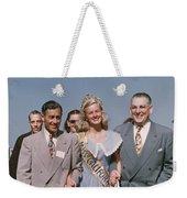 Jone Ann Pedersen Miss California June 1949 Weekender Tote Bag