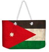 Jordan Flag Vintage Distressed Finish Weekender Tote Bag