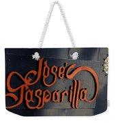 Jose Gasparilla Name Plate Color Weekender Tote Bag