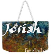 Josiah - Fire Of The Lord Weekender Tote Bag by Christopher