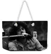 Journey #6 Crop 3 Enhanced Bw Weekender Tote Bag
