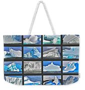 Journey's End For Vanishing Icebergs Assemblage In Saint Anthony-newfoundland  Weekender Tote Bag