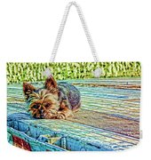 'jovie' Truckin Dogs Need Breaks Too Weekender Tote Bag