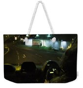 Joy Ride At Mid Night In Paris View From Rear   Of Limo Weekender Tote Bag