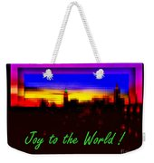 Joy To The World - Empire State Christmas And Holiday Card Weekender Tote Bag