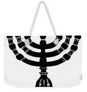 Judaism Candelabra Weekender Tote Bag