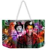 Jude Law And Robert Downey Jr Weekender Tote Bag