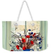 Jug Of Flowers Weekender Tote Bag by Tom Gowanlock