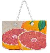 Juicy Pink Grapefruit Weekender Tote Bag