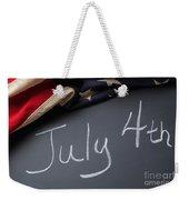 July 4 Sign On Chalkboard Weekender Tote Bag