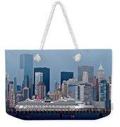 July 7 2014 - Carnival Splendor At New York City - Image 1674-01 Weekender Tote Bag