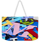Jumble Of Letters Weekender Tote Bag