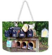 Jumbled Mailboxes Weekender Tote Bag