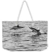 Jump For Joy - Common Dolphins Leaping. Weekender Tote Bag