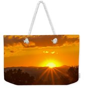 Jump Off Rock Sunset Flare Weekender Tote Bag