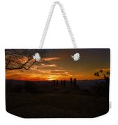 Jump Off Rock Sunset Silhouettes Weekender Tote Bag