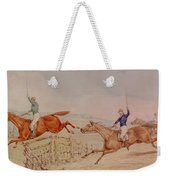 Jumping A Fence Weekender Tote Bag