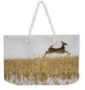 Jumping Doe In Corn Field Weekender Tote Bag