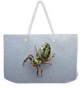 Jumping Spider - Green Salticidae Weekender Tote Bag