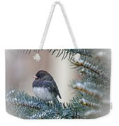 Junco In Pine Weekender Tote Bag