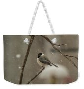 Junco In The Snow Weekender Tote Bag